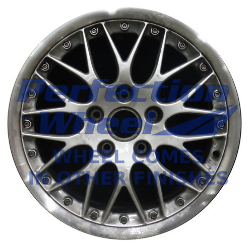 WAO.67302FT 18x7.5 Bright Fine Metallic Silver Flange Cut
