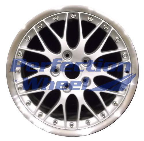 WAO.67303RE 18x9 Bright Fine Metallic Silver Flange Cut