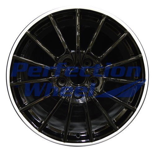 WAO.67418RE 20x11.5 Silver Flange with Black Face Full Face