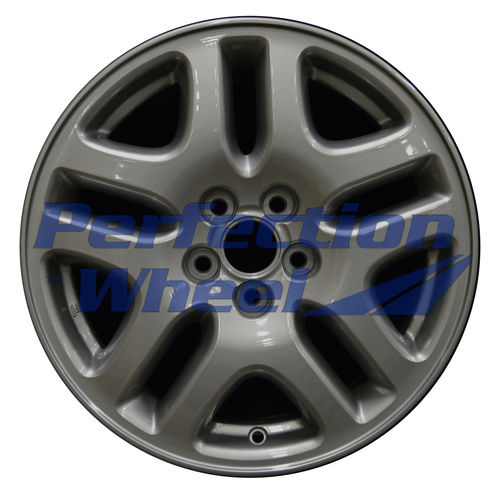 WAO.68710B 16x6.5 Light Blueish Metallic Silver Full Face