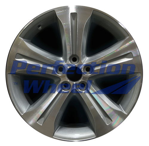 WAO.69536 19x7.5 Blueish Metallic Silver Machined