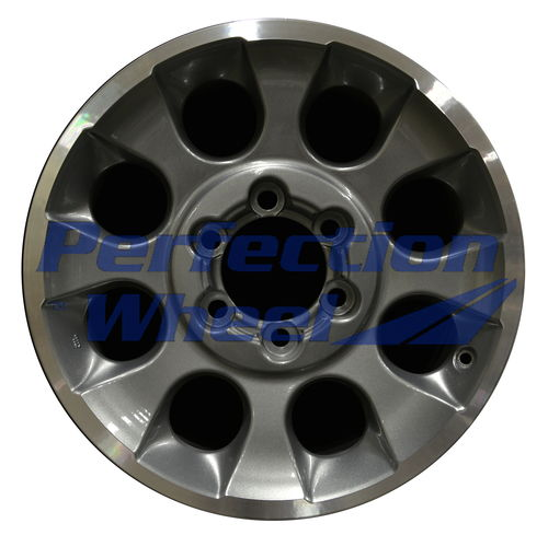 WAO.69579 17x7.5 Light Metalic Charcoal Flange Cut