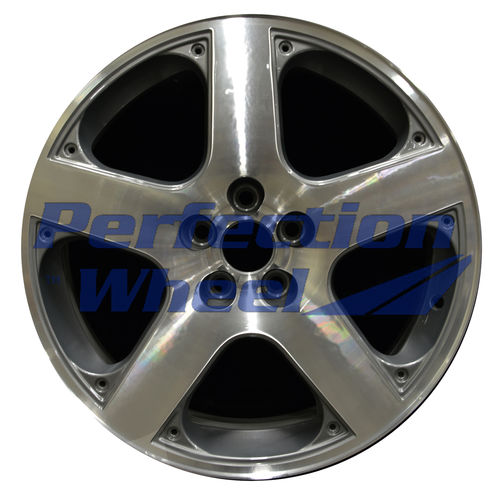 WAO.69758 17x7 Light Metallic Charcoal Machined