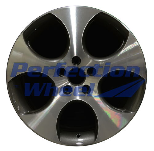 WAO.69822 18x7.5 Medium Metallic Charcoal Machined