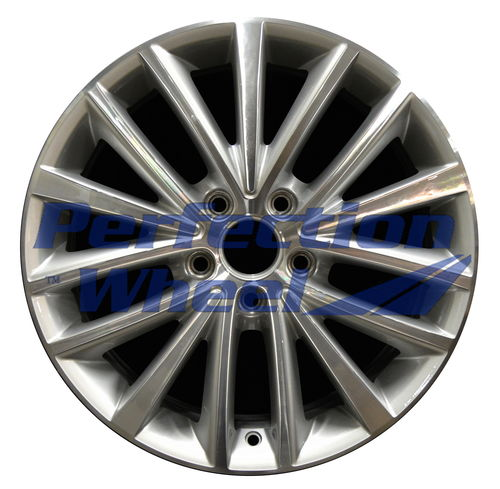WAO.69910 17x7 Bright Fine Metallic Silver Machined