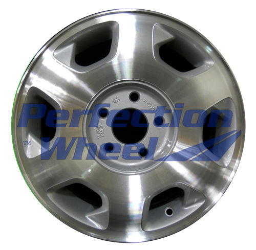 WAO.7015 15x6 Sparkle Silver Machined