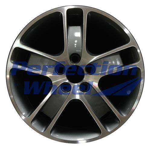WAO.70302 17x7 Medium Metalic Charcoal Machined