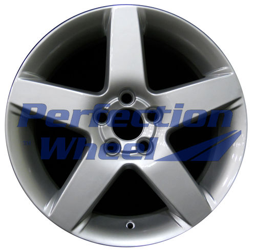 WAO.70316 17x7 Bright Fine Metallic Silver Full Face