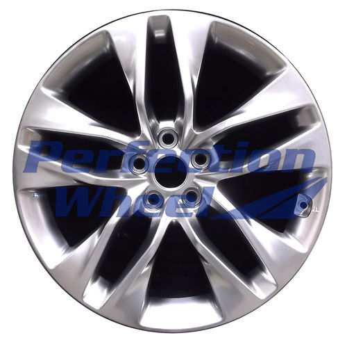 WAO.70841FT 19x8 Hyper Bright Smoked Silver Full Face