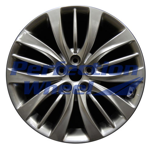 WAO.70872FT 19x8.5 Hyper Bright Smoked Silver Full Face