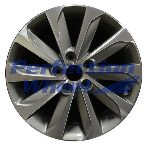 WAO.70877 17x7 Medium Metallic Charcoal Machined
