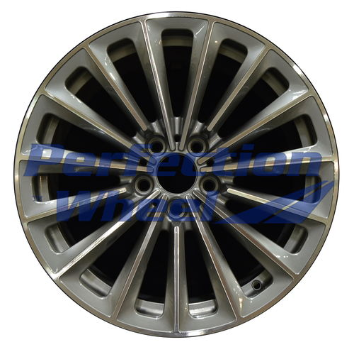 WAO.71331FT 19x8.5 Medium Metallic Charcoal Machined