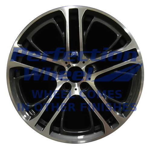 WAO.71487RE 20x10 Dark Charcoal Black Base Machined Bright