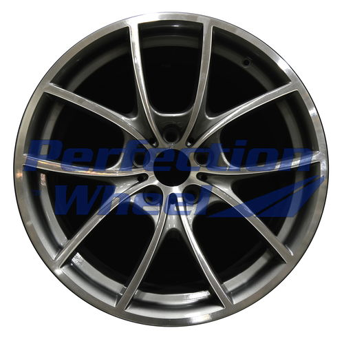 WAO.71520FT 20x8.5 Medium Metallic Charcoal Machined