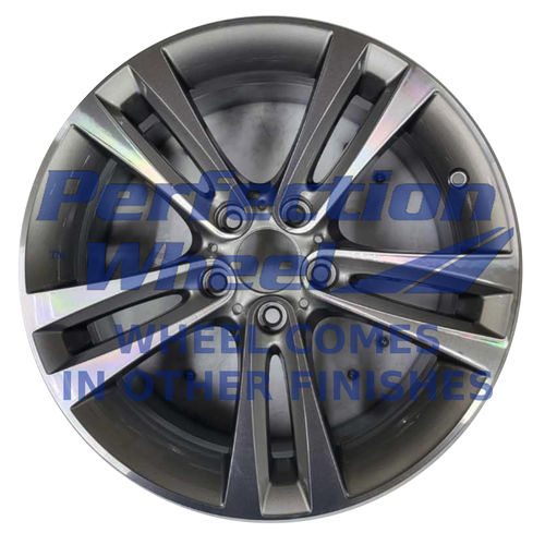 WAO.71540 18x8 Dark Metallic Charcoal Machined Bright