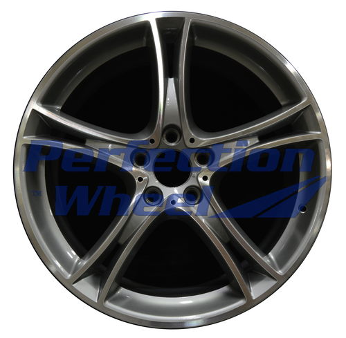 WAO.71550FT 20x8 Fine Metallic Medium Charcoal Machined Bright