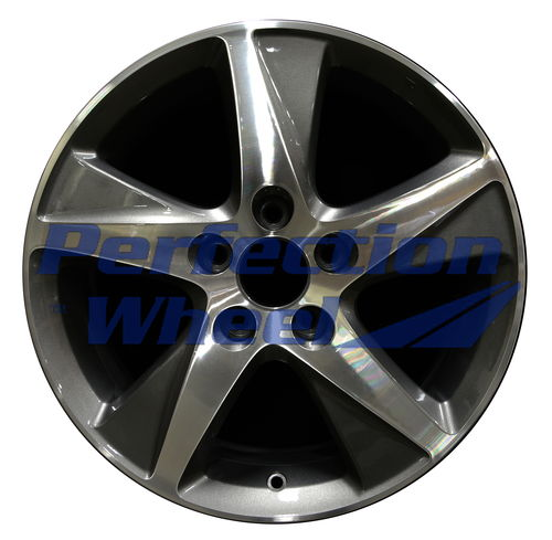 WAO.71781B 17x7.5 Bright Metallic Charcoal Machined