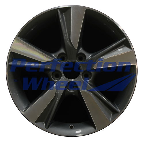 WAO.71805 17x7 Medium Charcoal Machined Bright
