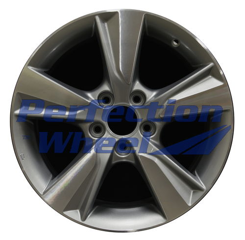 WAO.71805 17x7 Silver Gray Sparkle Machined