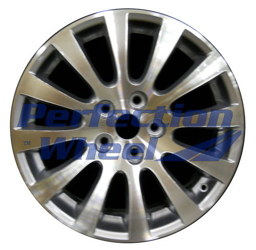 WAO.72710 17x7 Blueish Metallic Silver Machined