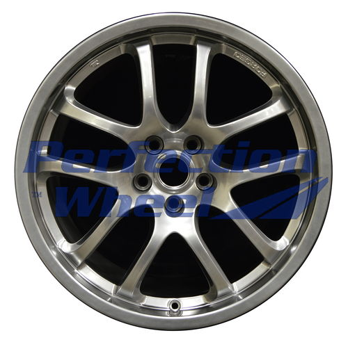 WAO.73684RE 19x8.5 Hyper Bright Smoked Silver Full Face Bright