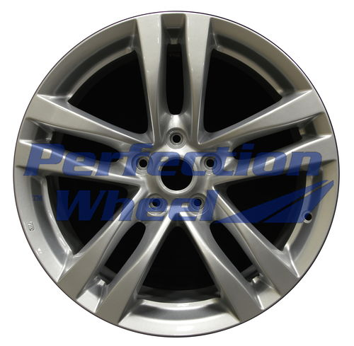 WAO.73702FT 18x8 Bright metallic silver Full Face