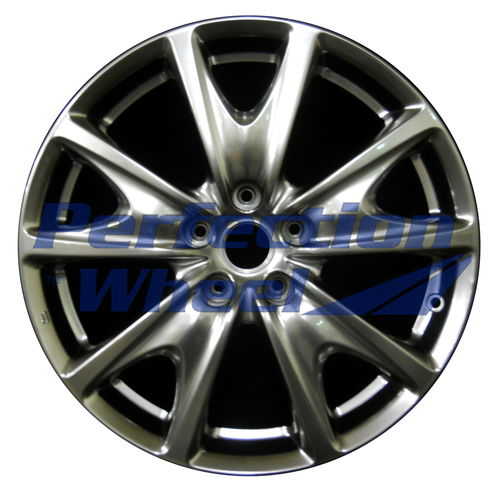 WAO.73717RE 18x8.5 Hyper Bright Smoked Silver Full Face