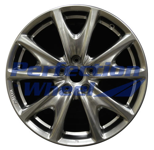 WAO.73717RE 18x8.5 Hyper Bright Smoked Silver Full Face Bright