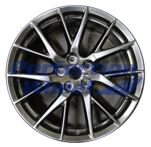 WAO.73743FT 19x8.5 Hyper Dark Smoked Silver Full Face