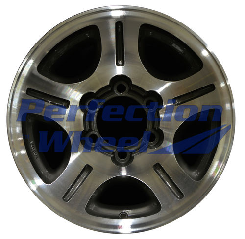 WAO.74143 16x8 Medium Metallic Charcoal Machined