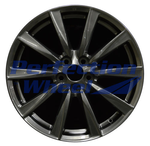 WAO.74206FL 19x8 Hyper Dark Smoked Silver Full Face