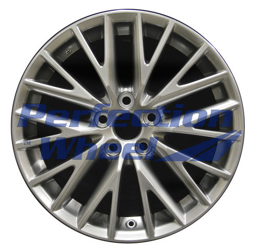 WAO.74289RE 18x8.5 Hyper Bright Smoked Silver Full Face