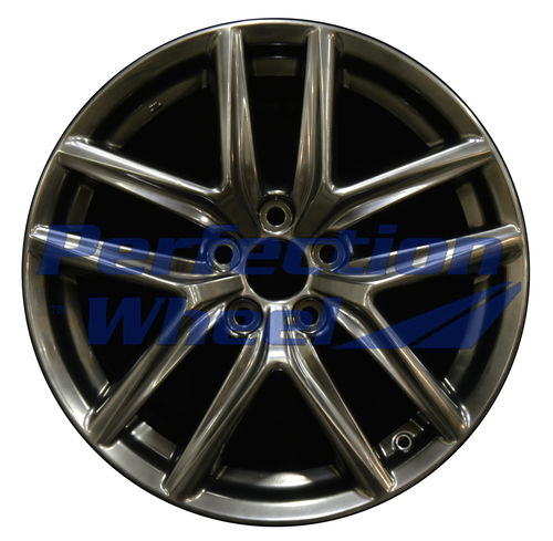 WAO.74292FT 18x8 Hyper Dark Smoked Silver Full Face