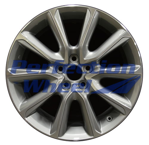 WAO.74309FT 19x8 Fine Metallic Silver Machined Bright
