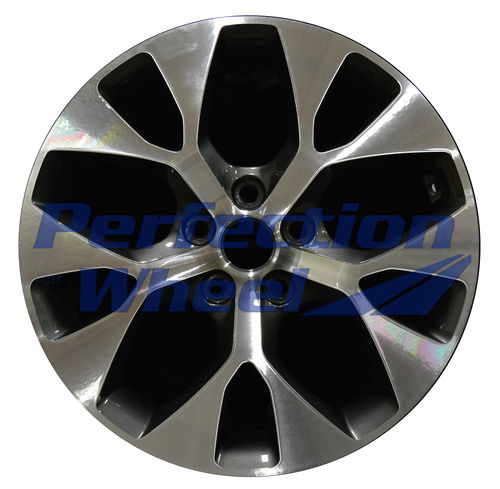 WAO.74662 18x7.5 Dark Granite Metallic Machined