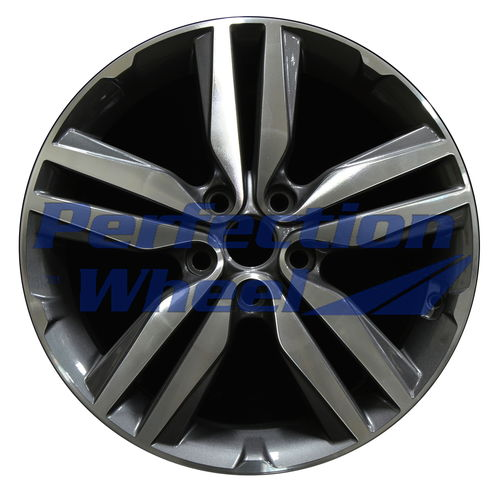 WAO.74719A 18x7.5 Black Base Metallic Charcoal Machined Bright