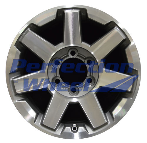 WAO.75154 17x7.5 Bright Metallic Charcoal Machined