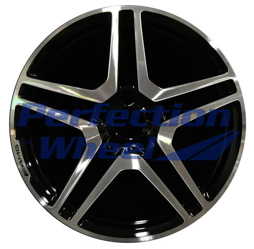 WAO.85051 20x8.5 Gloss Black Machine Bright Paint inside Barrel
