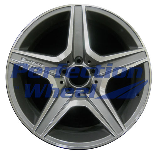 WAO.85059FT 18x8 Bright Metallic Charcoal Machined