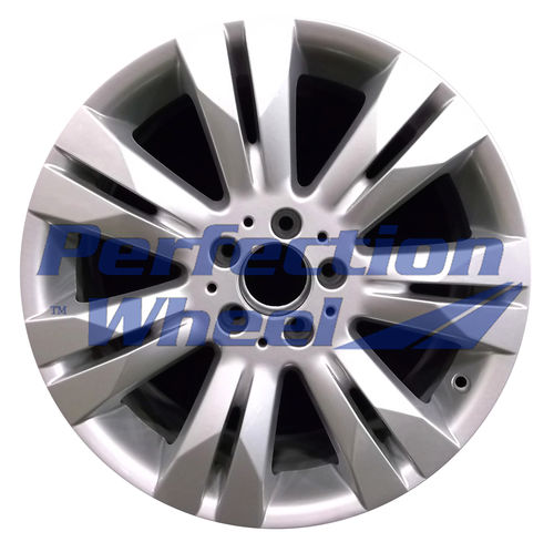 WAO.85075FT 18x8.5 Bright Fine Metallic Silver Full Face