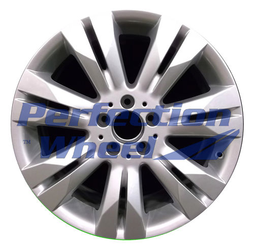 WAO.85075RE 18x9.5 Bright Fine Metallic Silver Full Face