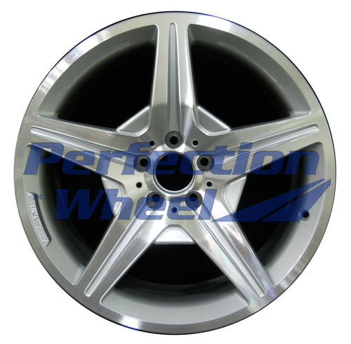 WAO.85078FT 19x8.5 Bright fine metallic silver Machined