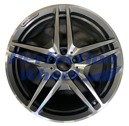 WAO.85084FT 19x8.5 Dark Sparkle Charcoal Machined Bright
