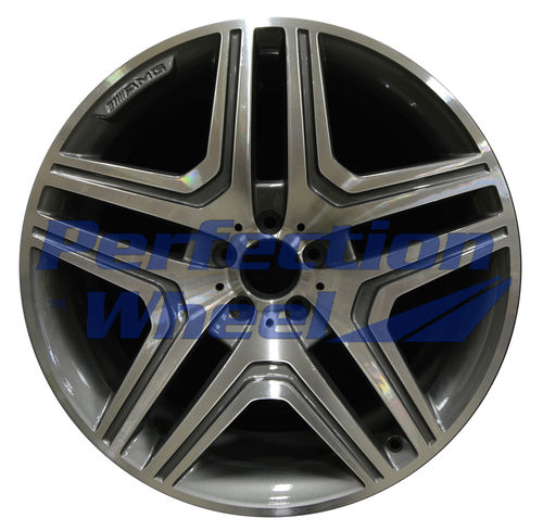 WAO.85114 21x10 Bright Metallic Charcoal Machined