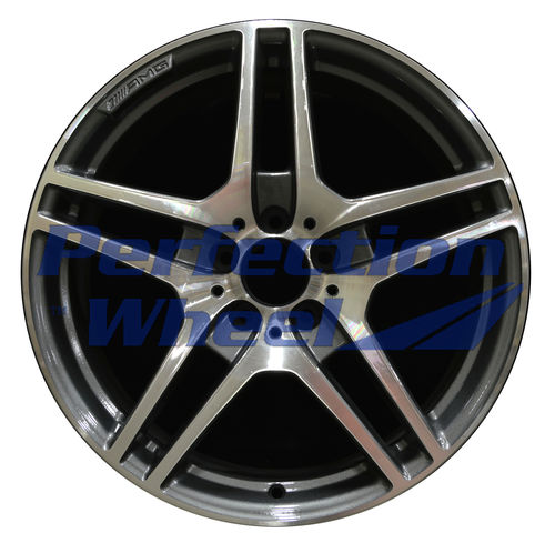 WAO.85204FT 19x9.5 Medium Charcoal Machined Bright
