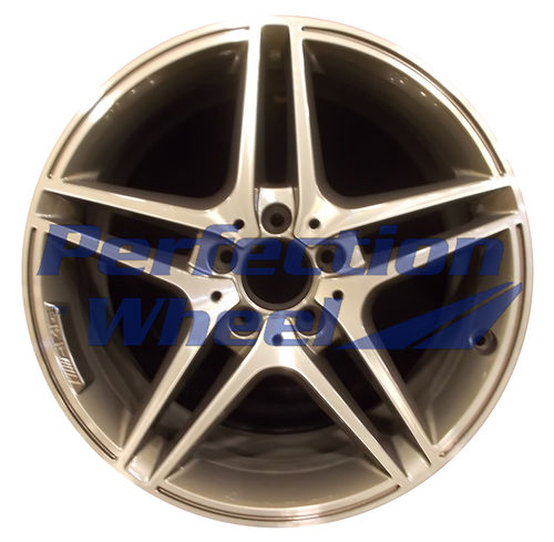 WAO.85221FT 18x8 Bright Metallic Charcoal Machined