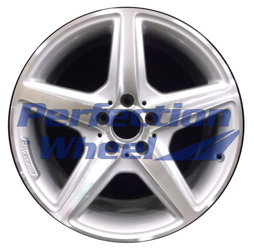 WAO.85230FT 18x8.5 Bright fine metallic silver Machined