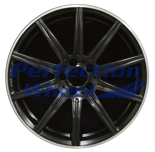 WAO.85236B 19x9 Black Flange Cut Matte Clear