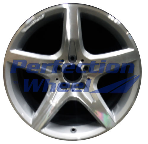 WAO.85249 18x8.5 Bright fine metallic silver Machined