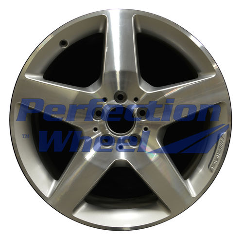 WAO.85277 19x8.5 Fine bright silver Machined